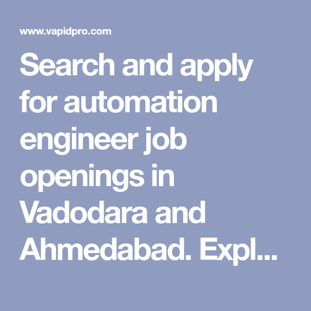 Search and apply for automation engineer job openings in