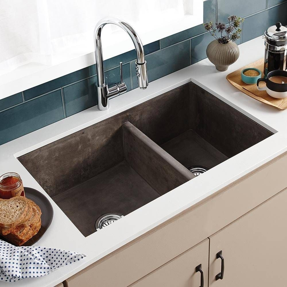 Farmhouse Double 33 Inch Nativestone Apron Front Kitchen Sink In
