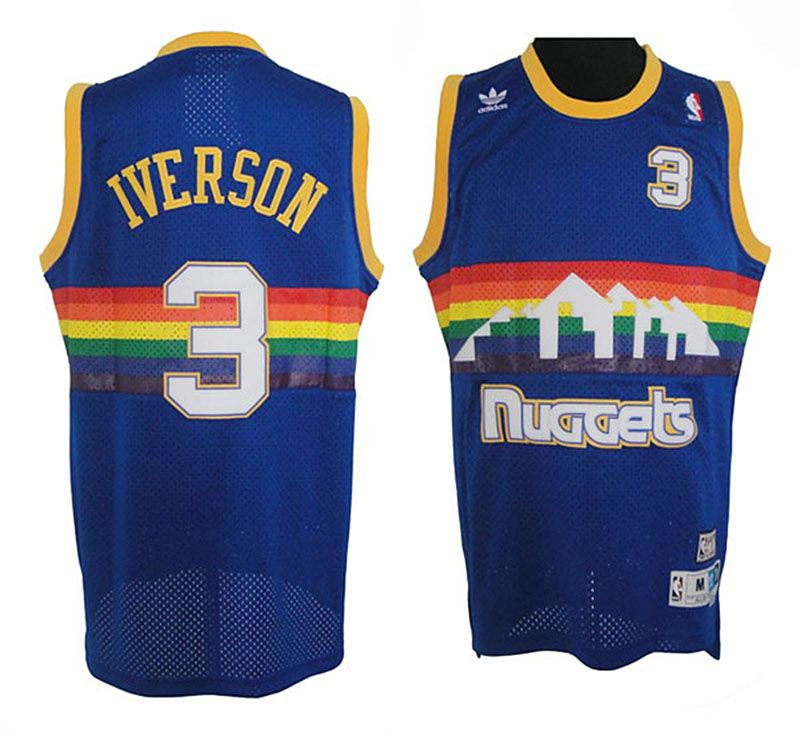 los angeles f2848 5de53 Allen Iverson Denver Nuggets #3 Soul Jersey | Sports ...
