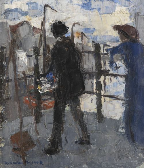 urgetocreate:  Rik Wouters, The Painter at Hoogbrug in the City...