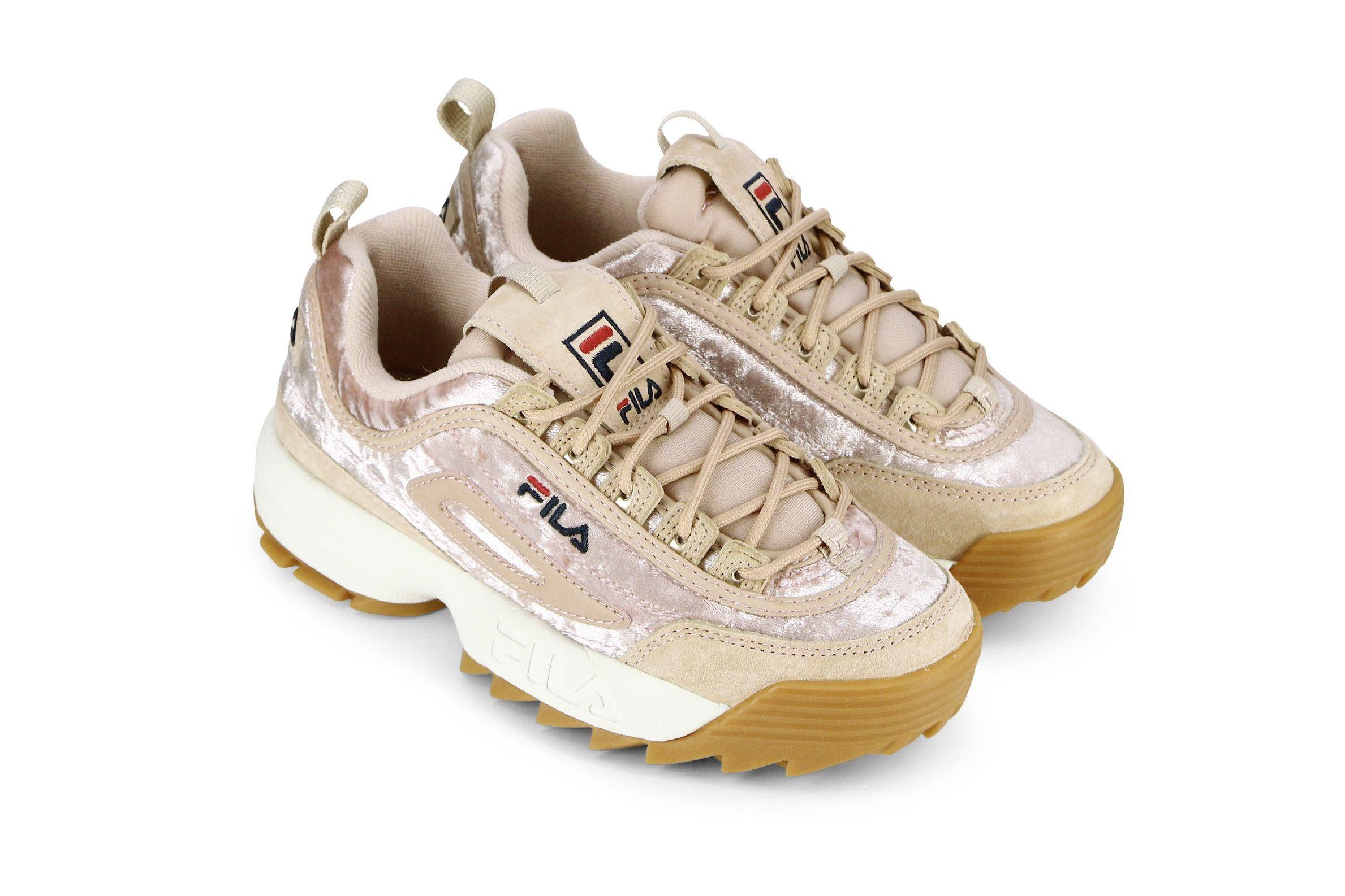 buty skate tanie jak barszcz gorące produkty FILA's Disruptor Sneaker Arrives in Two Velvet Colorways ...