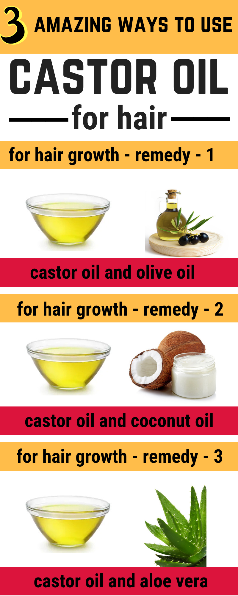 Mix Castor Oil With This To Get Faster Hair Growth Diy