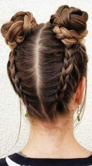 30+ Ideas Braids Updo Easy Hairstyles