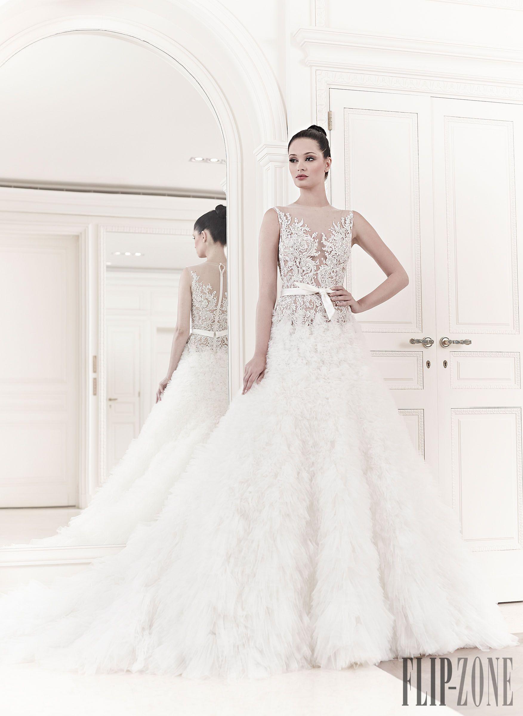 Zuhair Murad Spring-summer 2014 - Bridal - Elsa - http://www.flip-zone.com/fashion/bridal/the-bride/zuhair-murad-3952