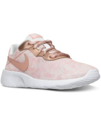b0b1487216a Nike Girls  Tanjun Print Casual Sneakers from Finish Line