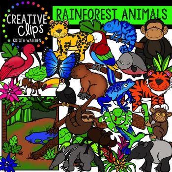 Rainforest Animals Clipart Creative Clips Clipart Rainforest