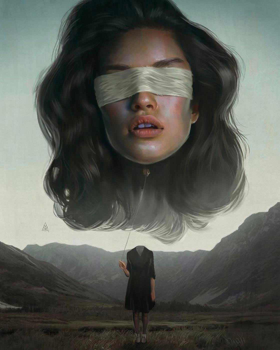 Digital Paintings: Aykut Aydoğdu - Surreale Portra