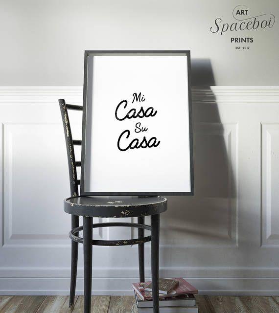 Mi Casa Su Poster Bathroom Quote Positive Print Funny Decor Artwork Wall Art Printable Typography