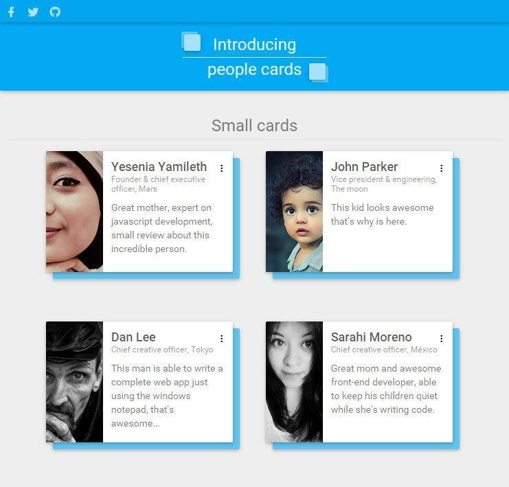 10 Material Design Card Examples Material Design Interactive