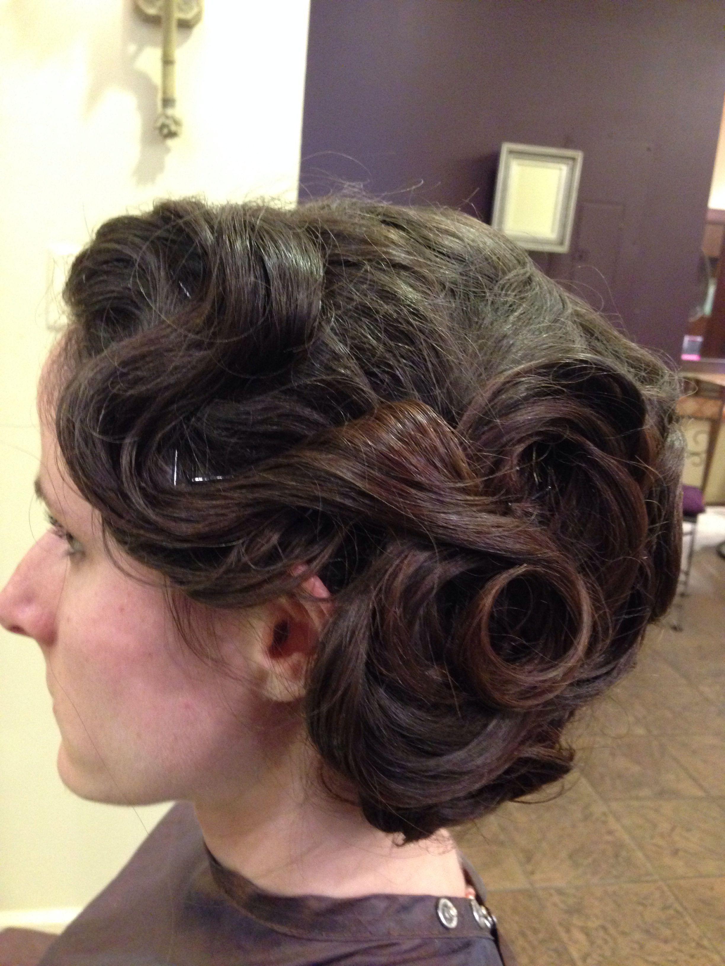 1920's Inspired Bride Updo | Bride, Hair