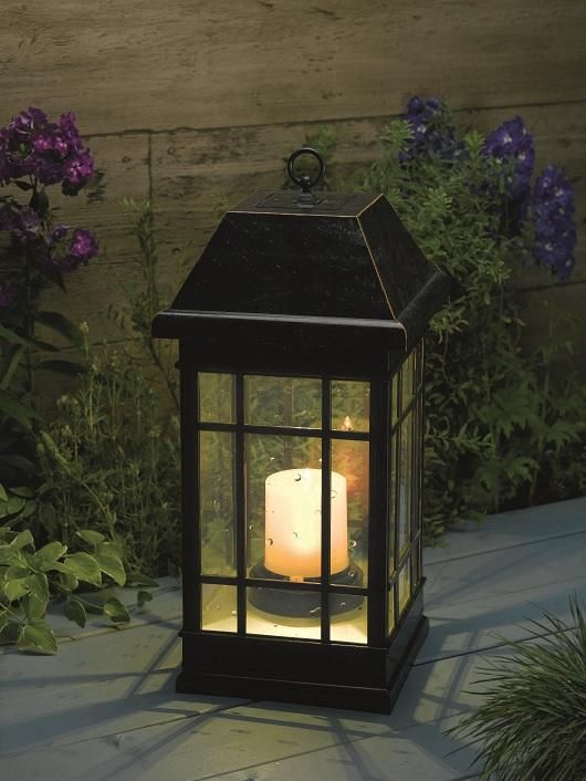 Table Candle Lanterns | Solar Powered Outdoor Table Candle Storm Lantern