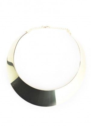 Thick Gold Collar Necklace $28.00