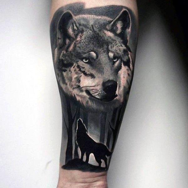 black wolf tattoo - photo #37