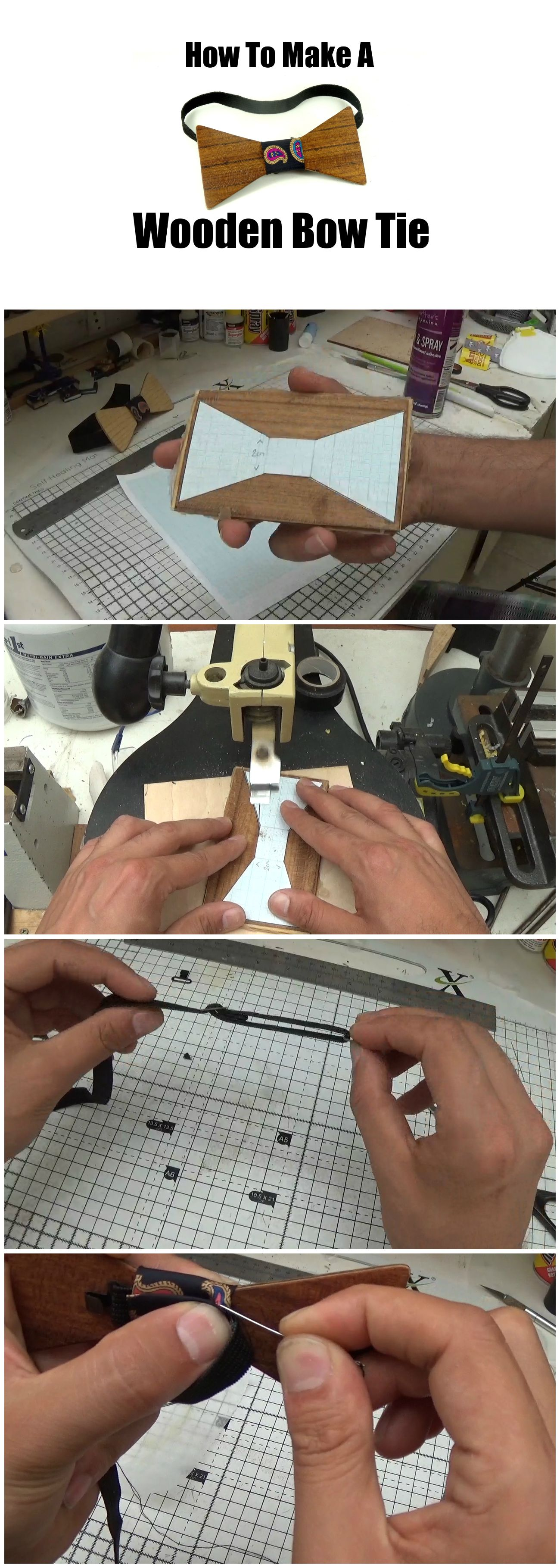 Learn How To Make A Wooden Bow Tie In This Tutorial By Zebrano Wood
