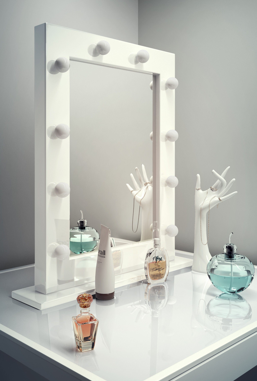 Anastasia White High Gloss Mirror (Medium) Makeup vanity