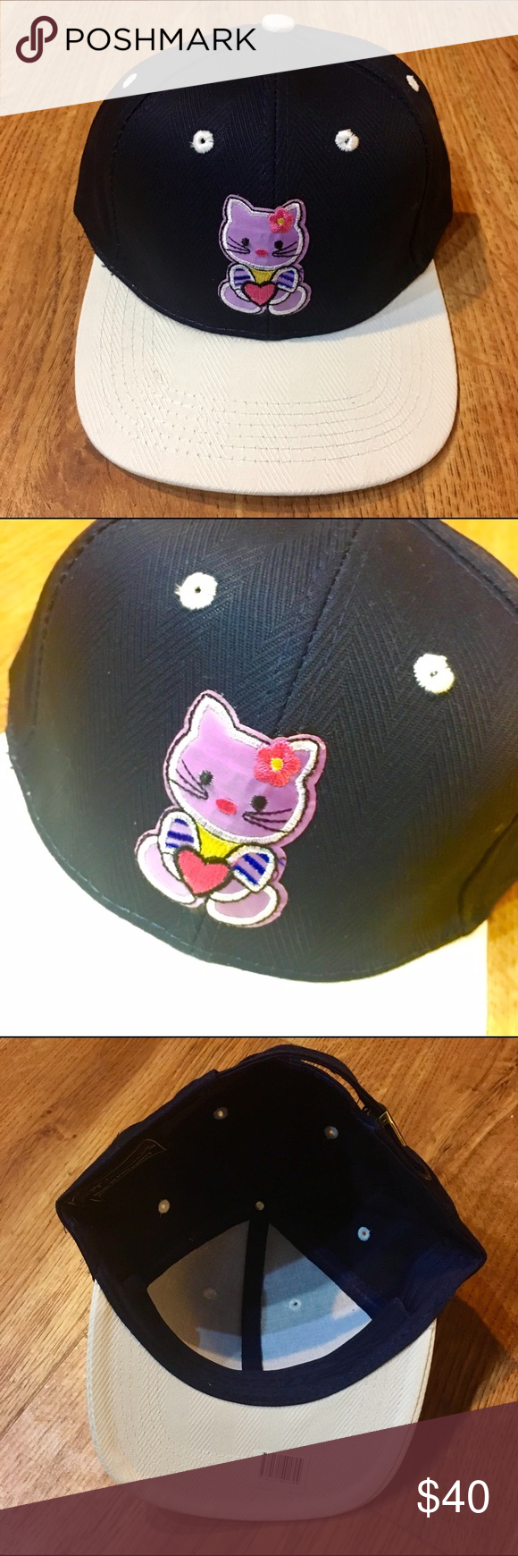 HELLO KITTY SNAPBACK HAT CAP CUTE LADIES DOPE COOL Brand new never worn. Super rare only 1 of 1 made. Hello Kitty Accessories Hats