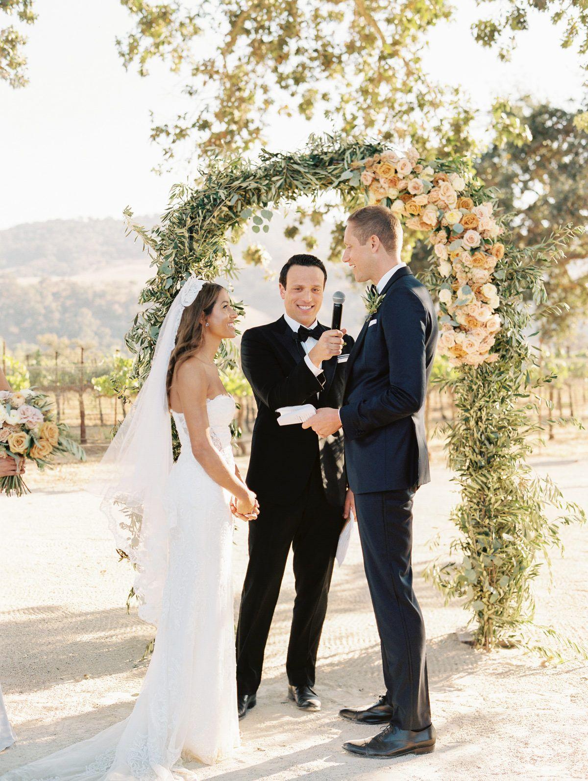 Vows At The Vineyard Wedding Wedding Officiant Stunning Bride Wedding