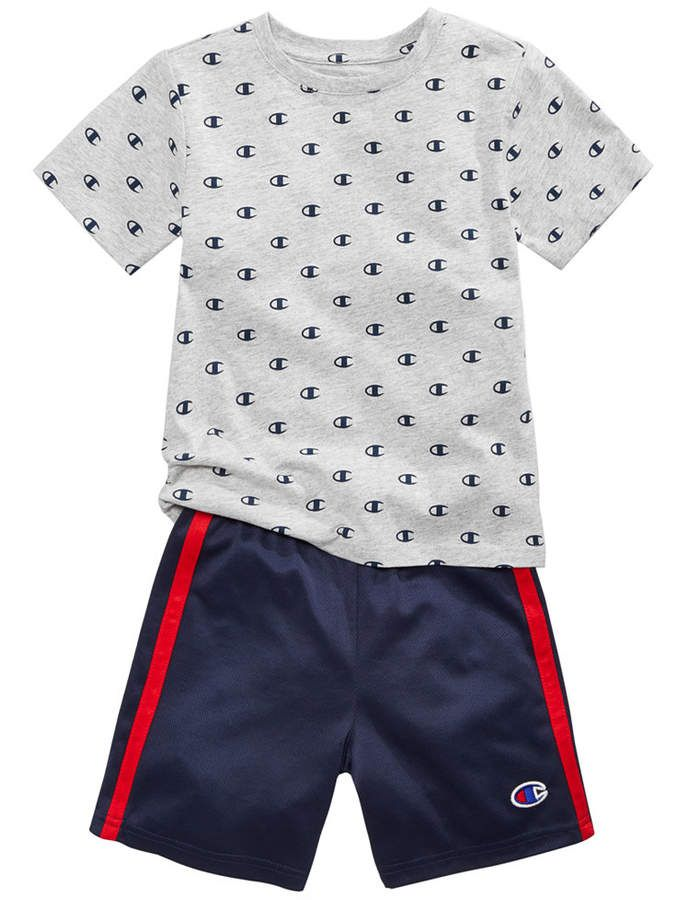 913dd13f Champion 2-Pc. Printed T-Shirt & Shorts Set, Toddler Boys | Toddler ...