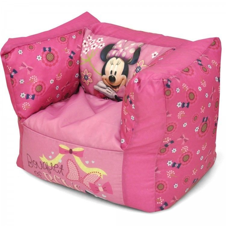 Minnie Mouse Toddler Bean Bag Chair Playroom Furniture Durable And