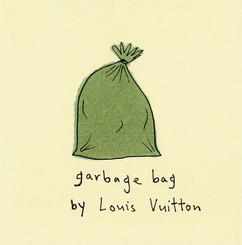 garbage bag by louis vuitton doodles illustrations and