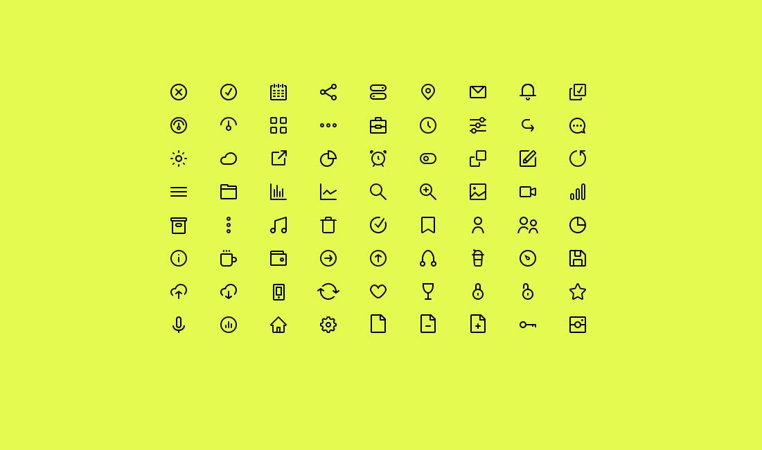 Top 30 Adobe Illustrator Icon Sets 2020 Colorlib Free Icons Icon Minimalist Icons