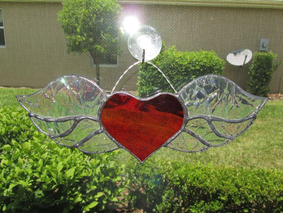 RESERVED FOR G. CAMPAGNA - Four Winged Heart Stained Glass ... - photo#42