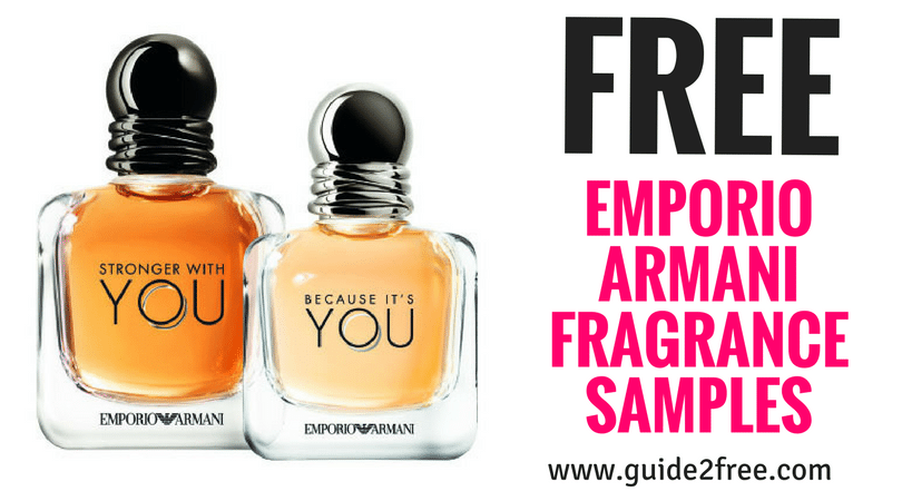0528d96c36 Hurry and request 2 FREE Emporio Armani Fragrance Samples! Be one of the  first to