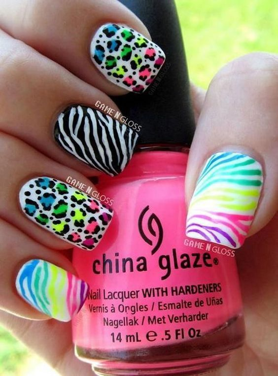 38 LOVELY SUMMER NAIL ART IDEAS | Leopard nail designs, Leopard ...