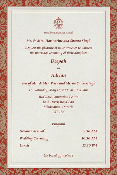 Click to magnifyshrink Cards Pinterest – Indian Wedding Invitation Card