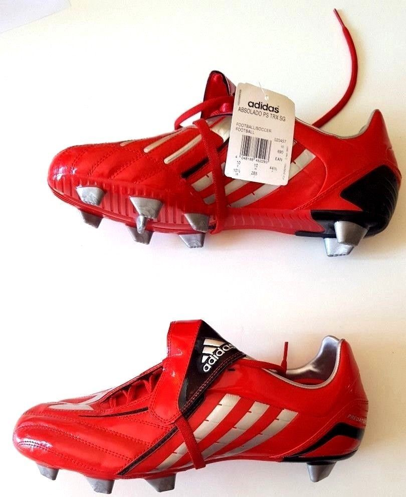 d43a90b7fcaa Adidas Predator Absolado Football TRX SG Soccer Boots Red Size UK 10 EU 44  2/