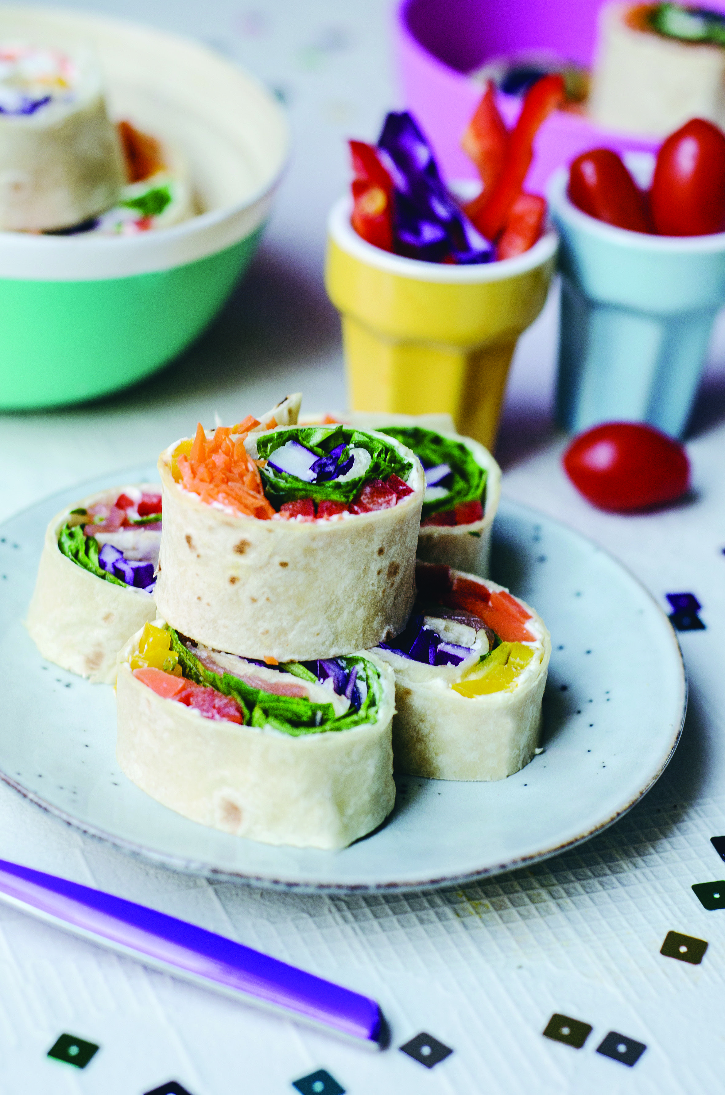 Rainbow pinwheels instead of ending up with rainbows scribbled on a little duo of recipe books filled with ideas on how to include more plants and supercharged foods on little forumfinder Choice Image