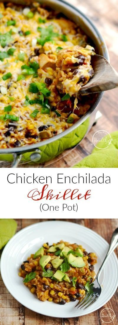 Chicken Enchilada Skillet (One Pot Meal) images