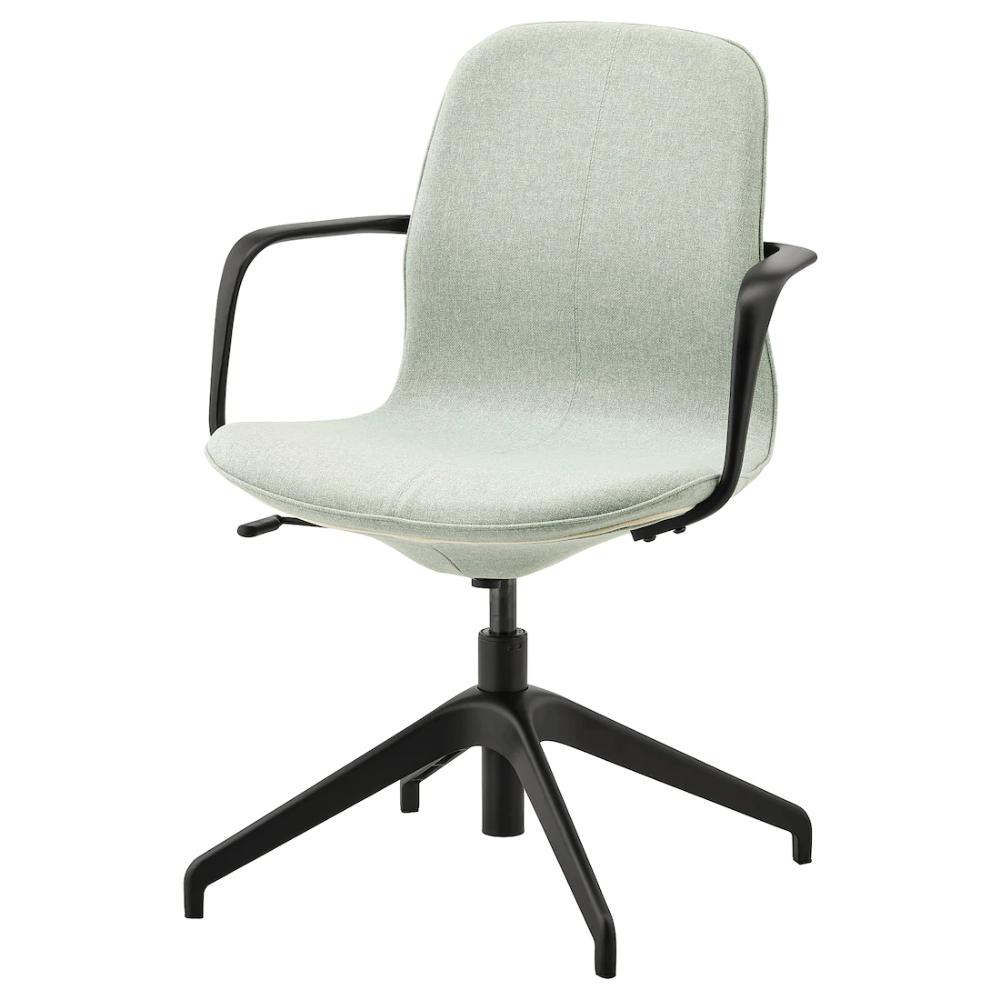 LÅNGFJÄLL Conference chair with armrests Gunnared light