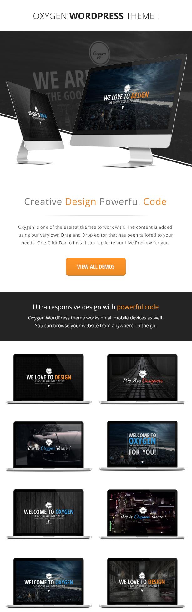 Oxygen One Page Parallax Wordpress Theme Wordpress