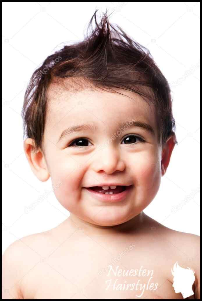 zahnen baby kleinkind mit frisur — stockfoto © phakimata