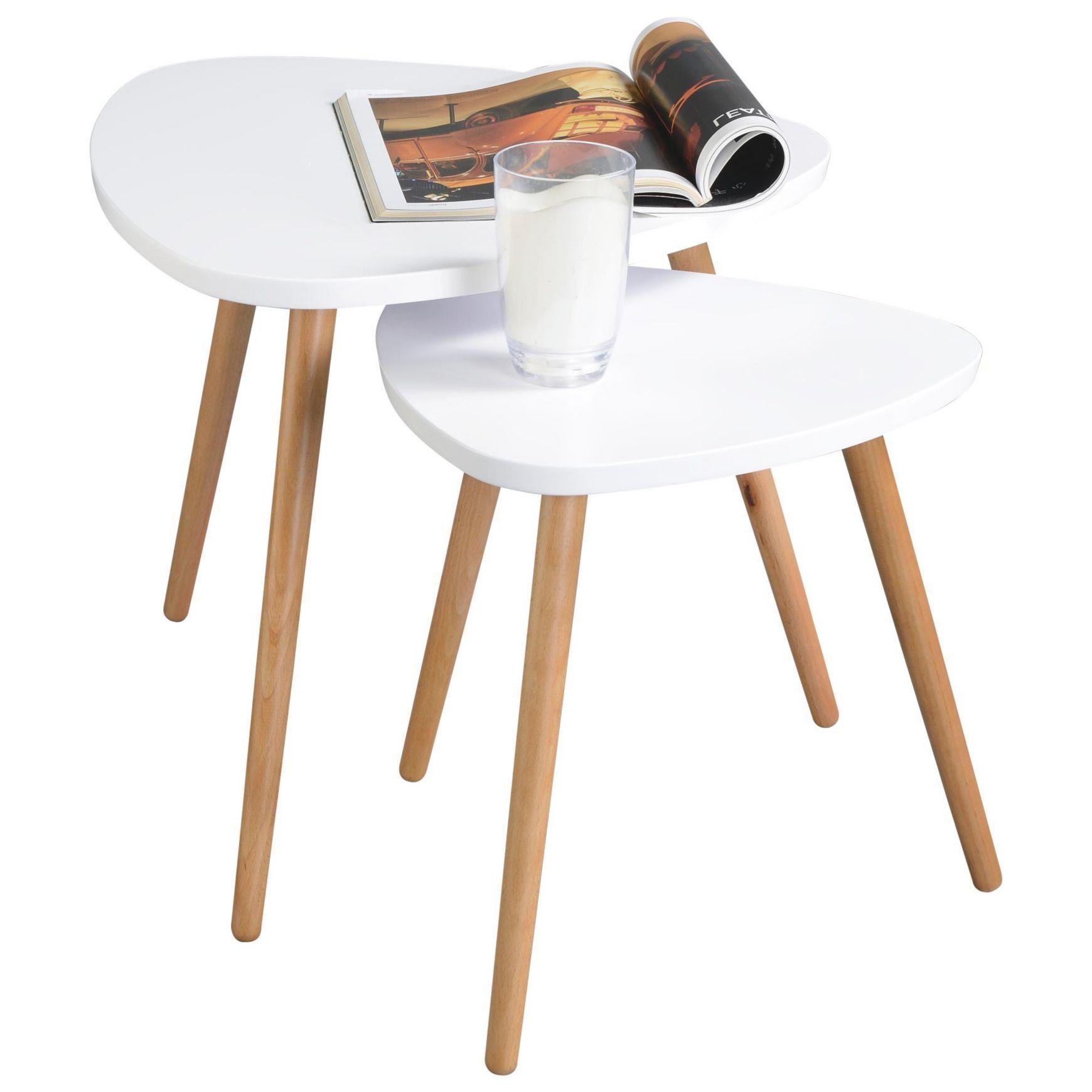 Beistelltisch In Weiss Eichefarben Couchtische Wohn Esszimmer Produkte Tisch Rund Weiss Beistelltisch Tisch