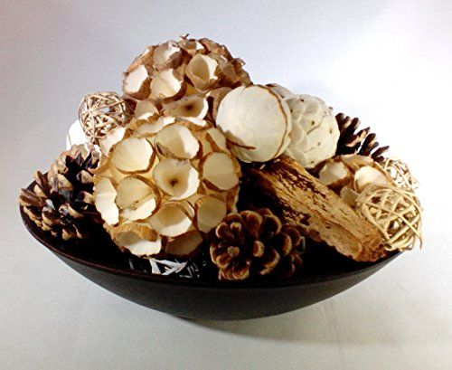 Decorative Bowl With Balls Winter White Balls Cones And Pods Decorative Spheres Ball Vase