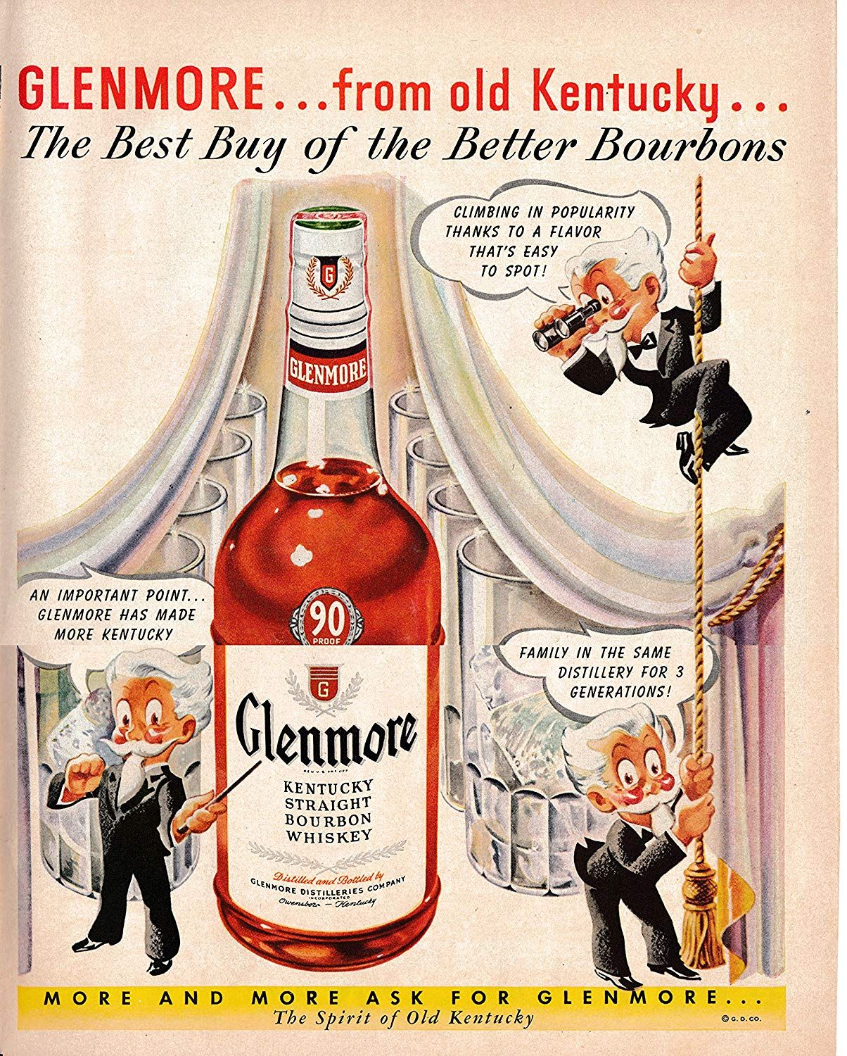 Amazon Com 1950 Glemore Whiskey Kentucky Gentleman Bourbon Original 13 5 10 5 Magazine Ad Everything Else Alcohol Marketing Alcohol Spirits Bourbon