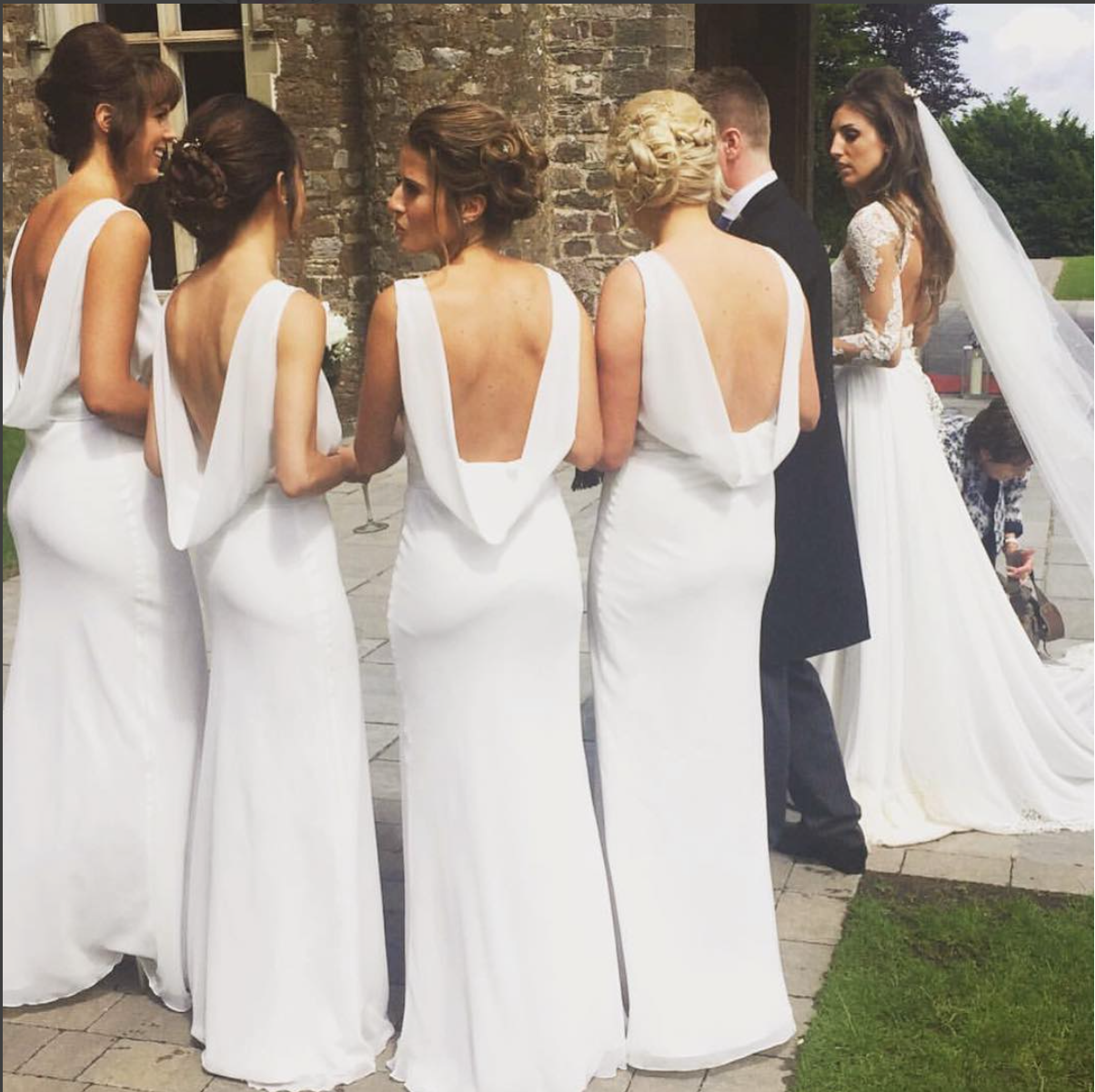 Backless Beauties In Ivory Maids To Measure Regent Dresses