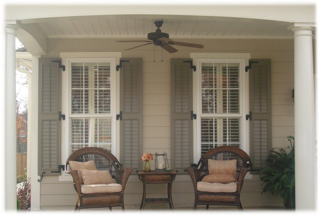 Image detail for house shutters exterior ideas best - Exterior louvered window shutters ...