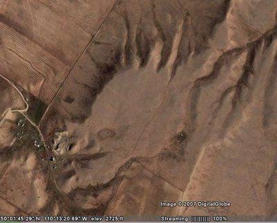 Dragon Head in Google Earth Illusion - http://www.moillusions.com/dragon-head-in-google-earth-illusion/