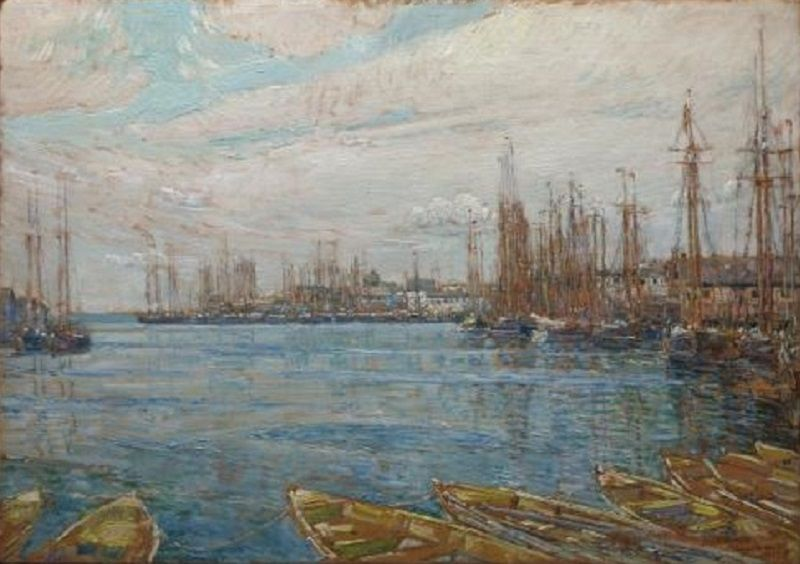Childe Hassam - Harbor of a Thousand Masts 1919
