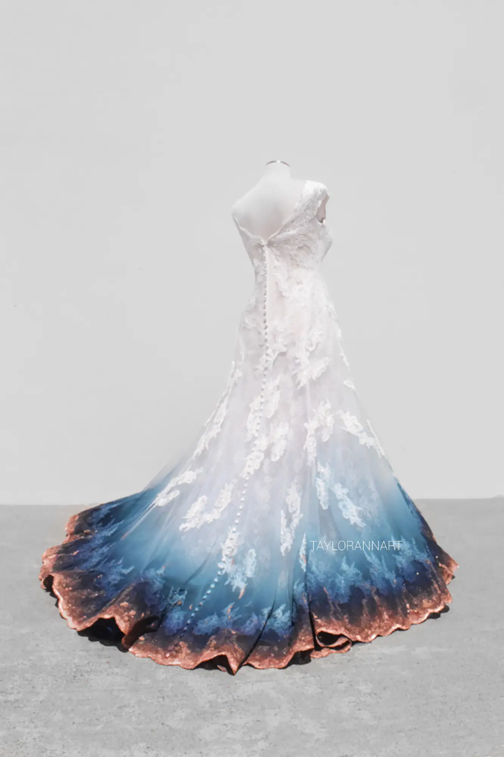 Artist Airbrushes Wedding Dresses To Create One Of A Kind Gowns Insider Ombre Wedding Dress Painted Wedding Dress Dye Wedding Dress [ 1500 x 1000 Pixel ]