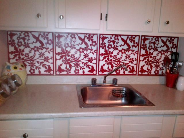 Al Rehab 13 Removable Diy Kitchen Backsplashes How To Create A Backsplash Using Placemats Or Room Panels