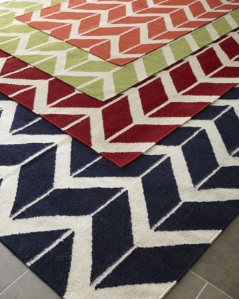 Chevron Rug At Horchow In Navy Too Much Maybe