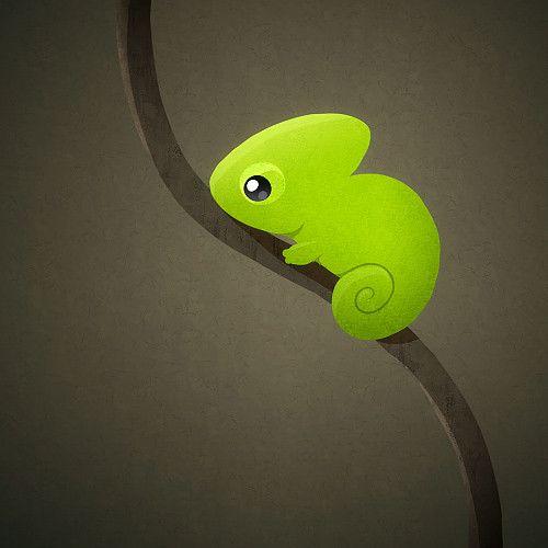 Best Chameleon Cute Drawings Animal Illustration Cartoon Lizard