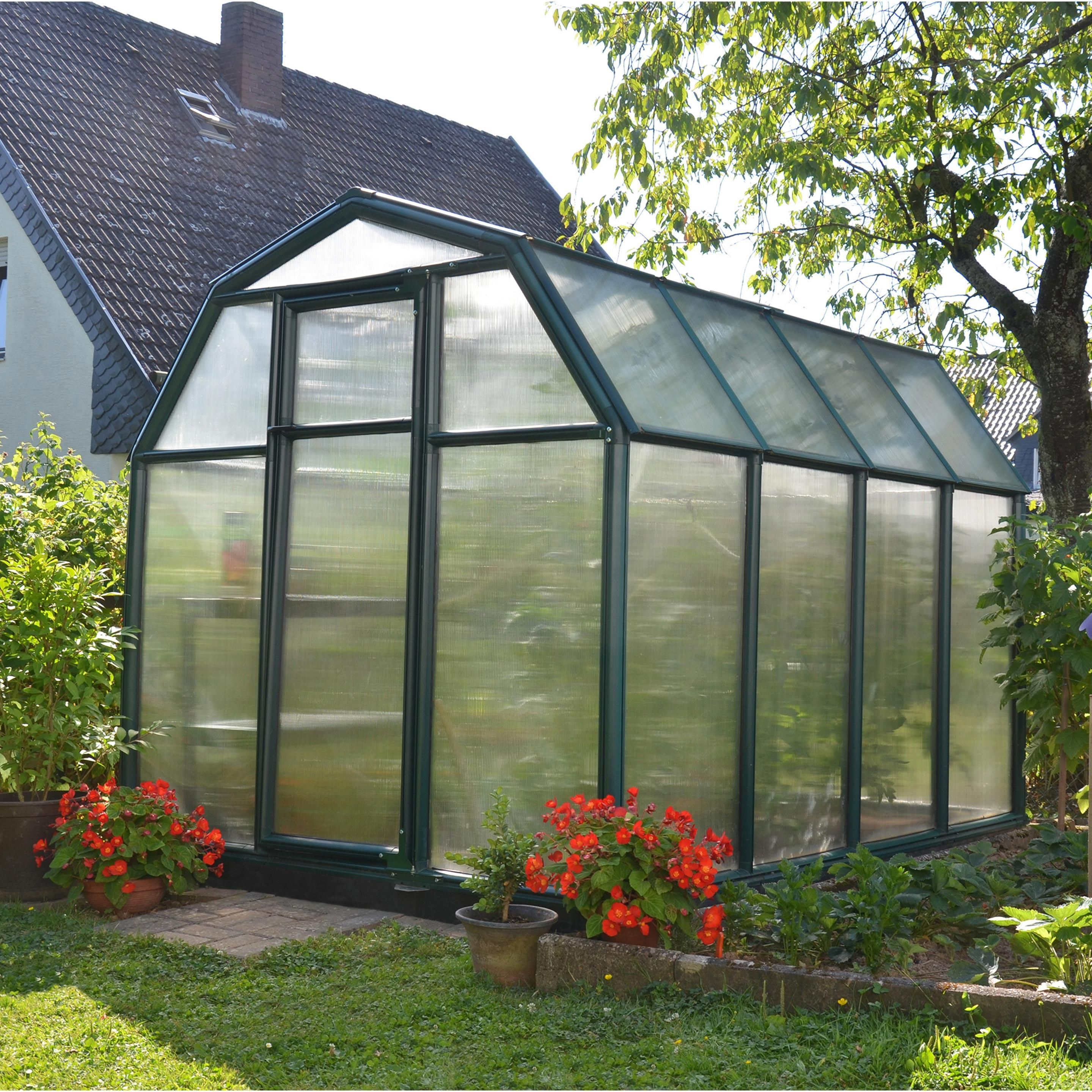 Serre De Jardin Ecogrow 5 1 M Resine Et Polycarbonate Double Parois Palram Serre Jardin Maison Verte Jardins