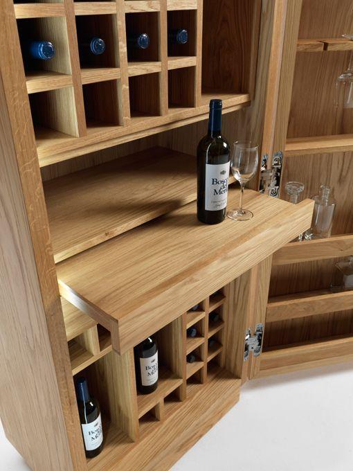 Armario botellero y bodega de vino cambusa dise os para - Botellero de madera para vino ...