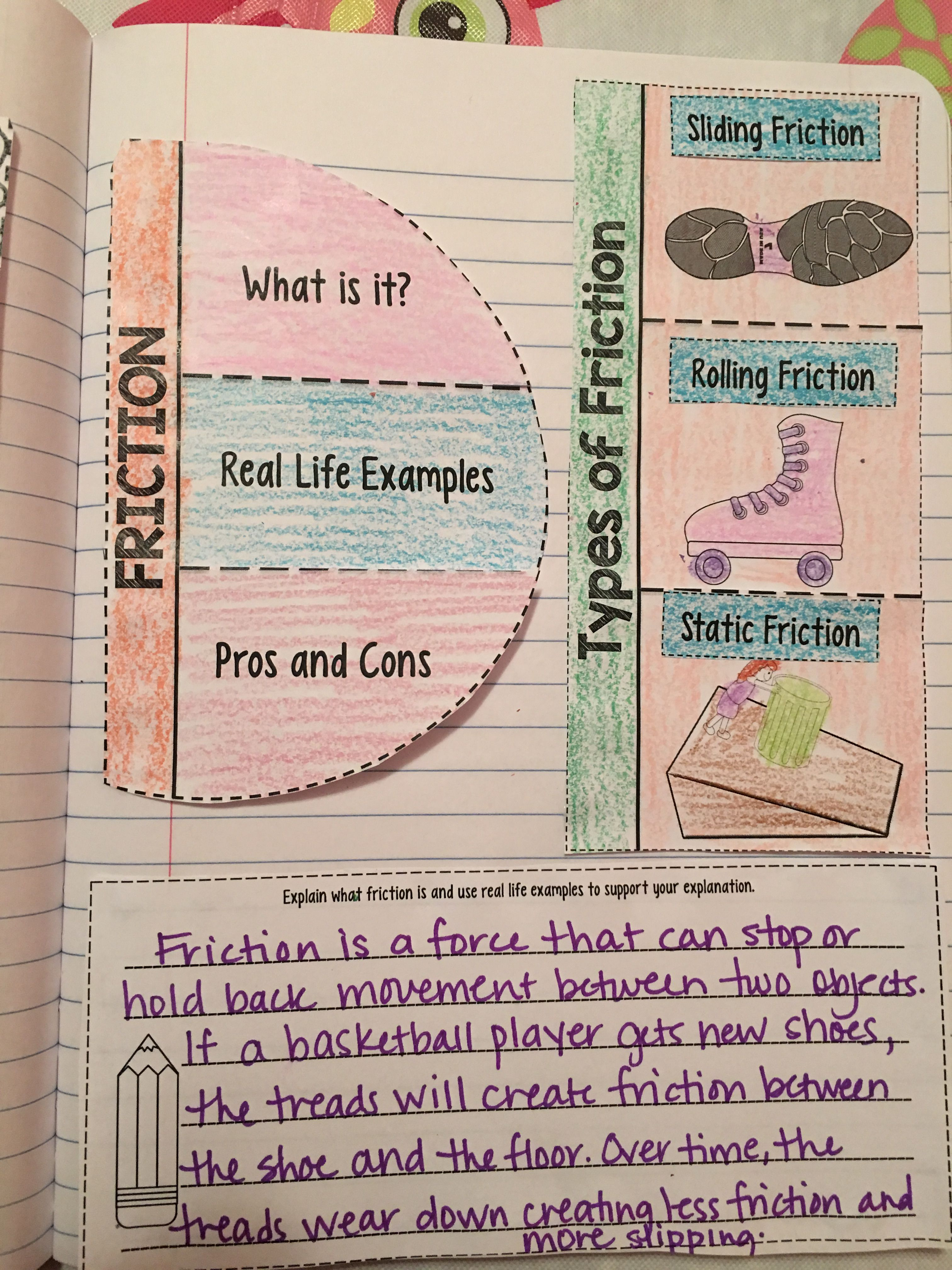 friction reading comprehension interactive notebook resources for teaching interactive. Black Bedroom Furniture Sets. Home Design Ideas