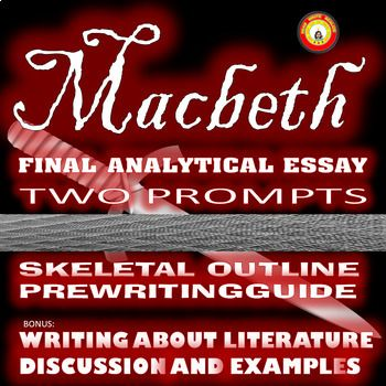 Health Promotion Essays This Final Essay Activity Guides Students Through The Process Of Writing An Analytical  Essay About Macbeth There Are Two Choices For Thesis Macbeths  What Is The Thesis Statement In The Essay also Personal Essay Examples High School Macbeth Final Analysis Essay With Two Prompts And Prewriting Guided  Good Proposal Essay Topics